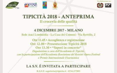 Tipicità 2018 parte da Milano